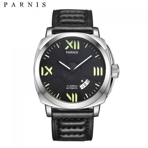 44mm Parnis Sapphire Miyota Automatic Men's Watch Luminous Marker Date Indicator