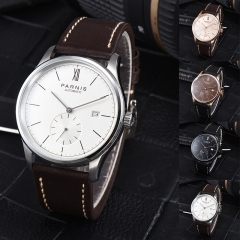 41.5mm Parnis Automatic Movement Men's Casual Mechanical Watch Small Second Gift