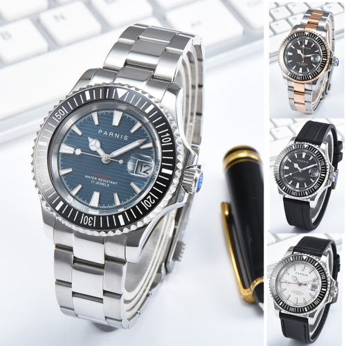 Parnis Automatic Mechanical Watches Men Diver Wristwatch 21 Jewel Miyota 8215 Automatic Movement Sapphire Crystal