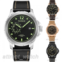44mm Parnis Sapphire Miyota Automatic Movement Men's Watch 24-hours Small Dial