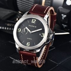 44mm Parnis Automatic Men's Mechanical Watch Sapphire Crystal 5ATM Waterproof