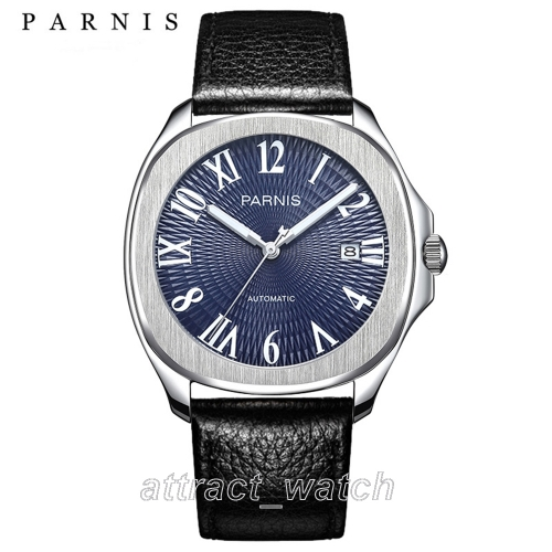 39mm Parnis Miyota Automatic Men's Casual Watch Sapphire Crystal Luminous Marker